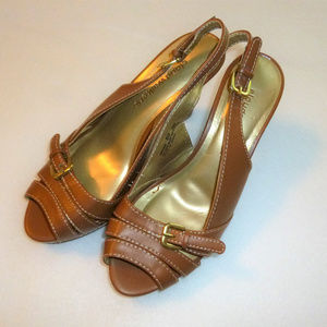 "Cloudwalkers ""Amanda"" tan sandals, size 8W, NWOT"
